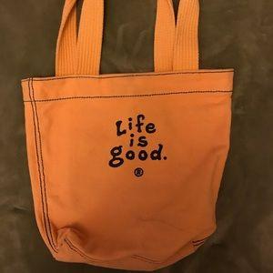 Life is Good  mini tote bag